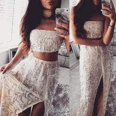 Jasmine Sequin Maxi Two-Piece – Dream Closet Couture