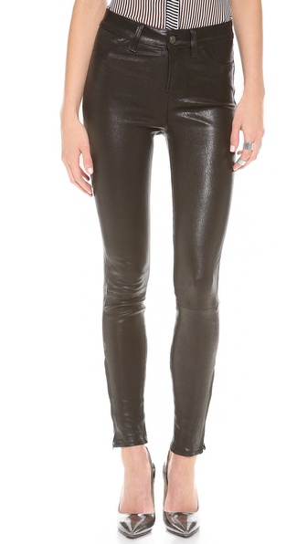 J Brand Maria High Rise Leather Pants | SHOPBOP
