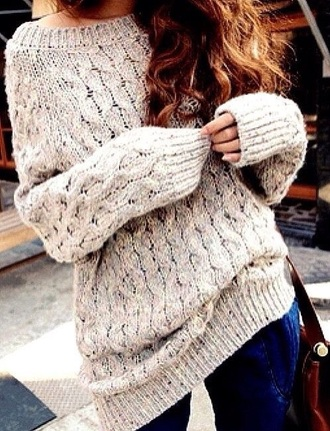 sweater grey sweater knitted sweater
