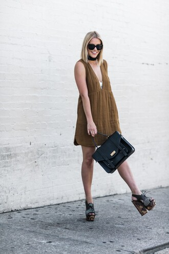 the courtney kerr blogger dress bag shoes underwear sunglasses jewels