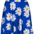 ROMWE | Daisy Print Blue Skirt, The Latest Street Fashion