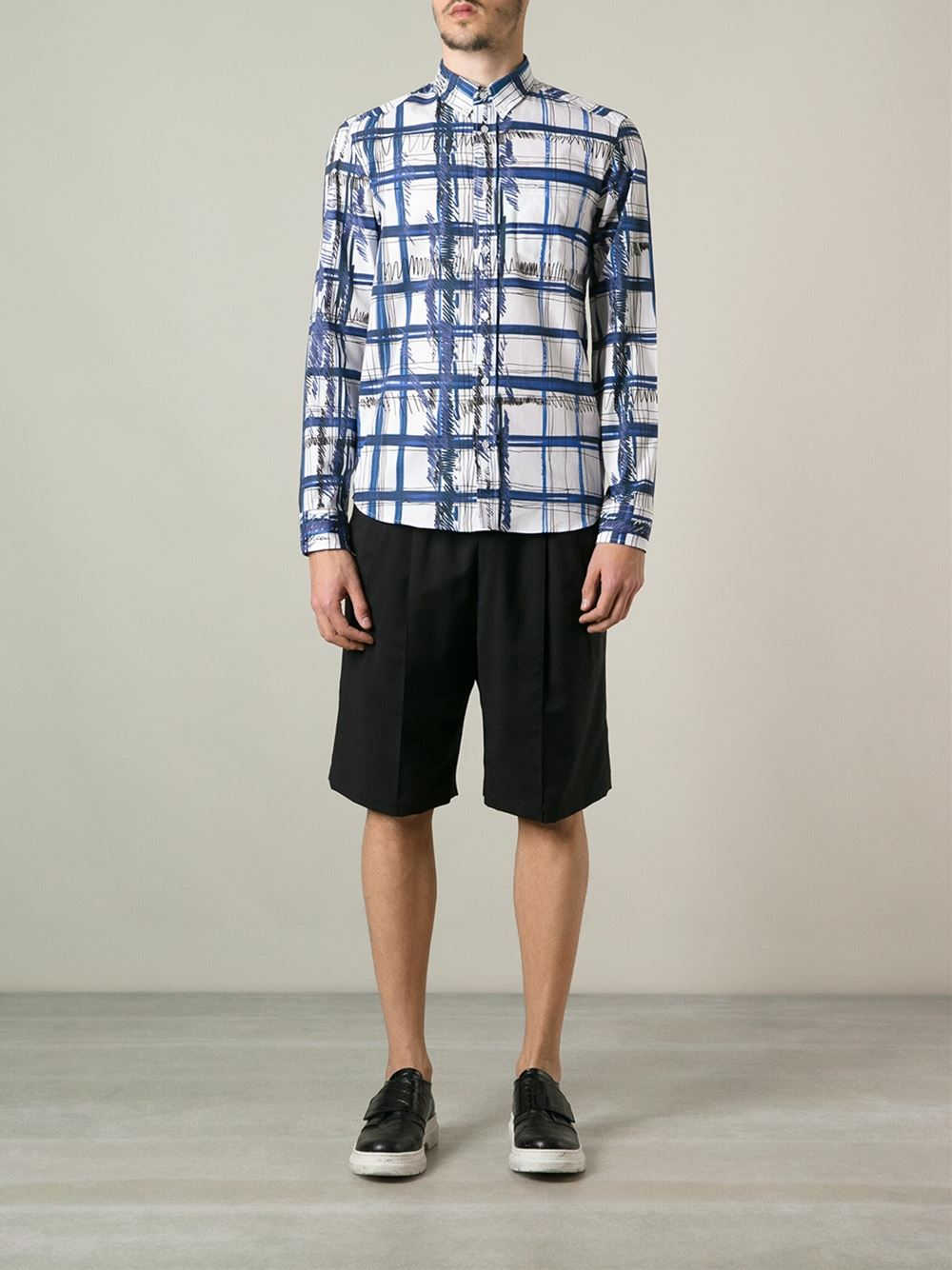 Kenzo 'scribble Check' Shirt - Twist'n'scout - Farfetch.com