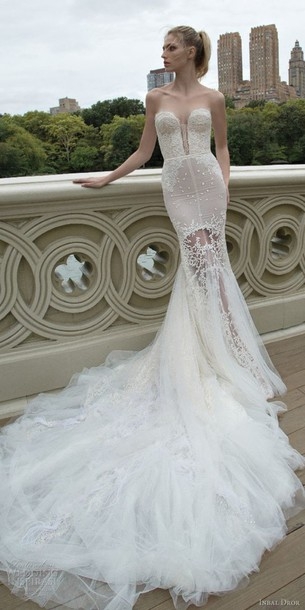 9bd6c9ed55 dress wedding dress bustier dress bustier wedding dress white dress wedding  sheer dress white train lace