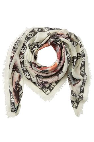 printed scarf scarf silk multicolor
