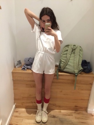 romper pale jumpsuit white