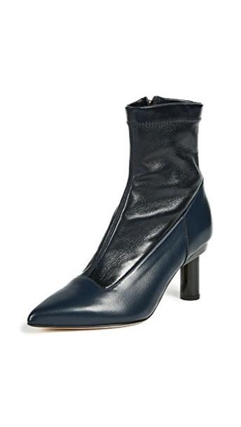 Tibi booties navy black shoes