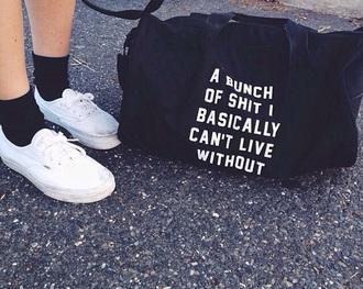 bag black bag letters