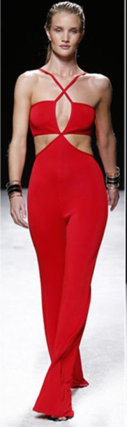 balmain stylish style fashion fashionista designer jumpsuit red jumpsuits