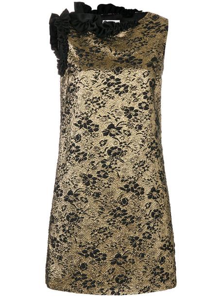 lanvin dress mini dress mini women grey metallic