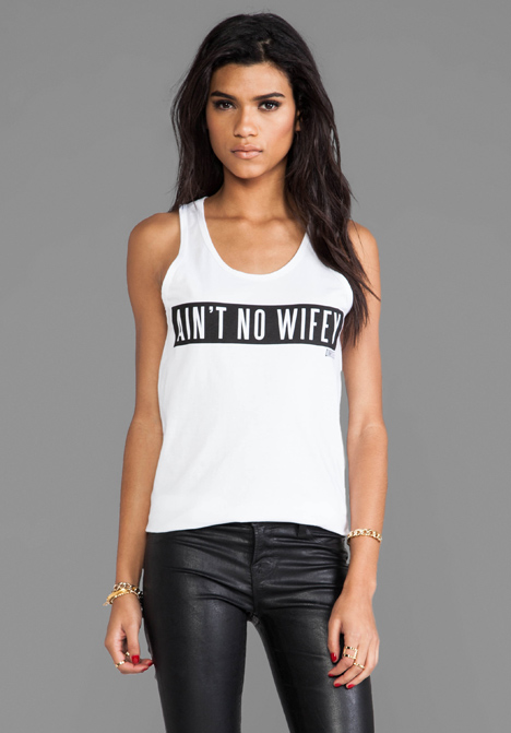 DIMEPIECE Ain't No Wifey Tank in White - New