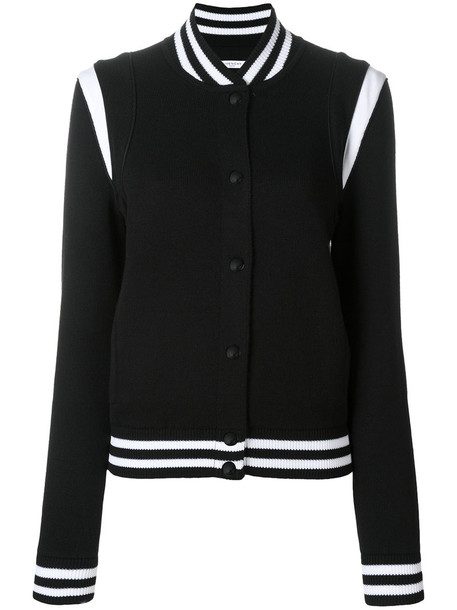 jacket bomber jacket embroidered women cotton black wool