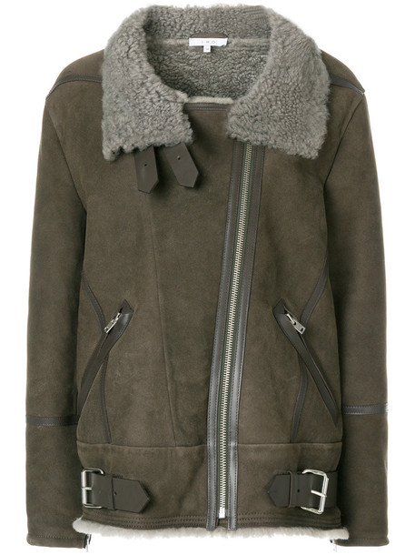 Iro jacket shearling jacket women grey