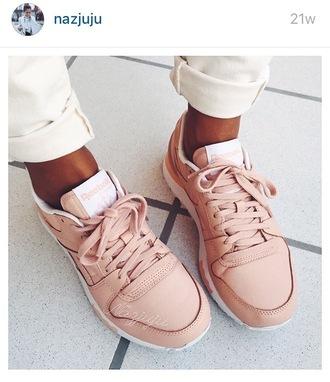 shoes pink pastel fashion instagram nazjuju reebok pastel pink reebok shoes