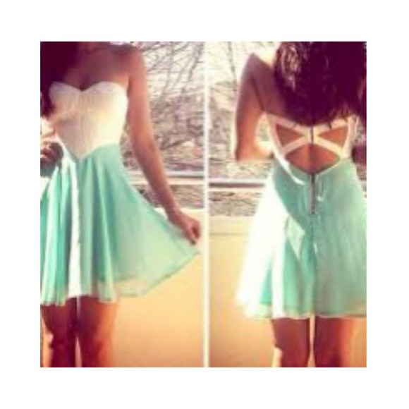white dress cute dress short dress flowy dress blue dress sweetheart dress teal dress