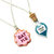 Alice in Wonderland Best Friends Necklace Set - BFF Drink Me & Eat Me Jewelry - Cute, kawaii miniature food