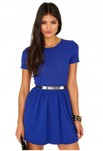 Umaiza Belted Skater Dress - Dresses - Skater Dress - Missguided