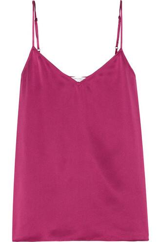 camisole silk plum underwear
