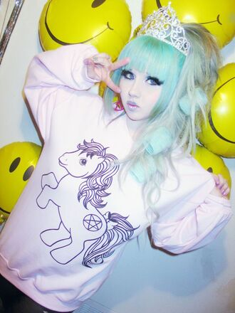 sweater pony pink pastel my little pony pentagram