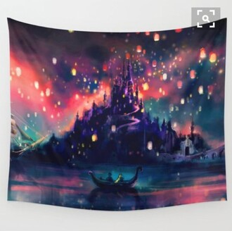 home accessory disney disney princess tangled hippie wall hanging wall decor