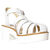 WINDSOR SMITH LILY LEATHER SANDAL - WHITE