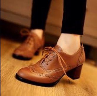 shoes vintage shoes for her vintage brogue shoes oxfords mid heel boots brown boots