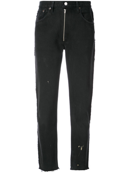 Re/Done jeans zip women cotton black