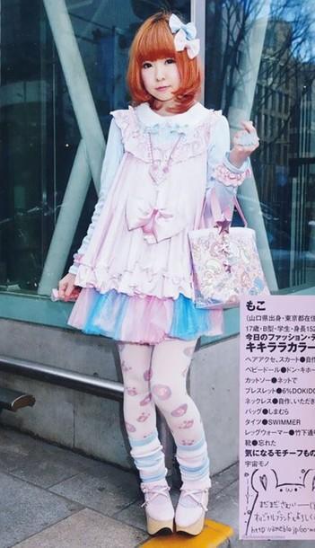 skirt kawaii pastel style
