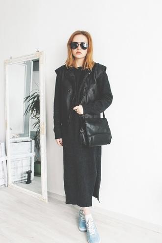 kristina magdalina blogger dress bag jacket maxi knit dress