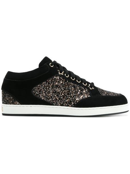 Jimmy Choo women miami sneakers leather black shoes