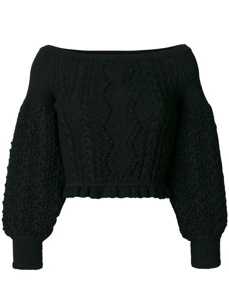 jumper cropped jumper cropped women black wool sweater
