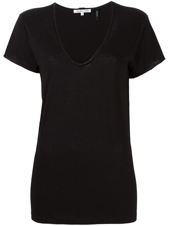 t-shirt shirt women cotton black top