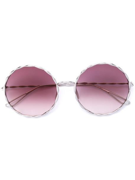 Elie Saab round frame sunglasses - Metallic