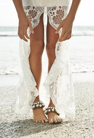 beach bikini sea ocean beach dress beach wedding high low skirt