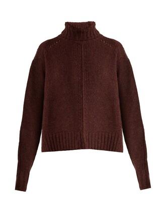 sweater wool burgundy