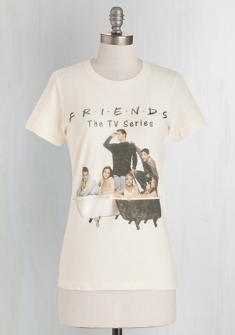 shirt vintage friends tv show white