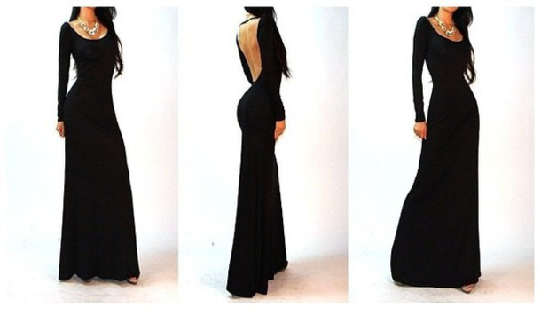 dress black long dress with long l sleeve party dress heels maxi dress anyone? neednow hair accessory
