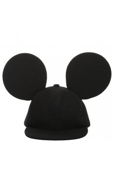 Comme Des Garcons Homme Plus | Wool Baseball Cap with Mickey Ears Black | Buy Comme Des Garcons Homme Plus Online at Hervia.com