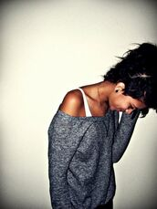 charcoal,grey,clothes,sweater,off the shoulder