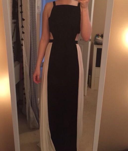 dress pretty gorgeous beautiful prom prom dress prom dress chiffon dress white dress black dress cut-out dress prom dress