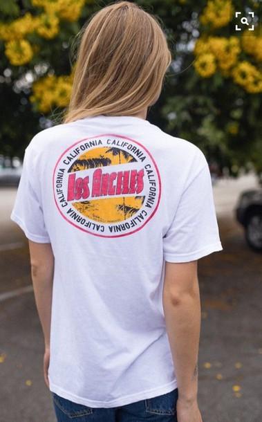 shirt california white t-shirt
