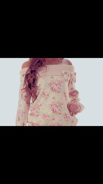 top pullover flower dress fleurie haut