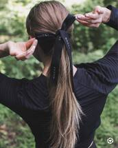 hair accessory,tumblr,brunette,ponytail,hair bow
