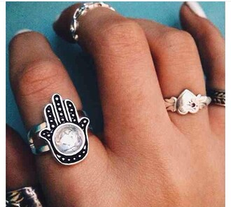 jewels ring myth legend fatima fatimas hand hands hamsa hasma indian turkish europe european ethnic boho bohemian cute tumble teenagers magic