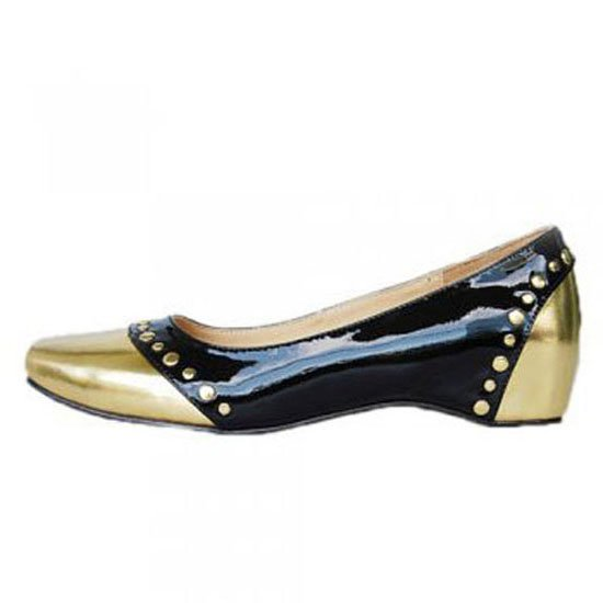 Patent mousse clou black/gold christian louboutin flats sell online [clshoes200150147]
