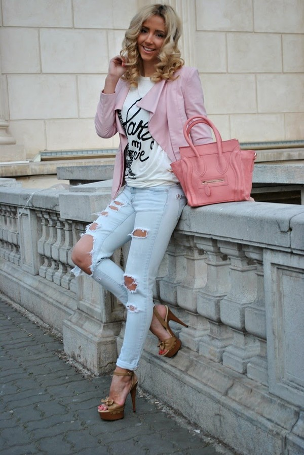 let's talk about fashion ! jacket t-shirt jeans bag shoes