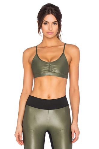 bra sports bra green