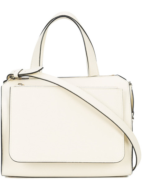 Valextra women leather white bag