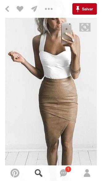 skirt beige skirt pencil skirt