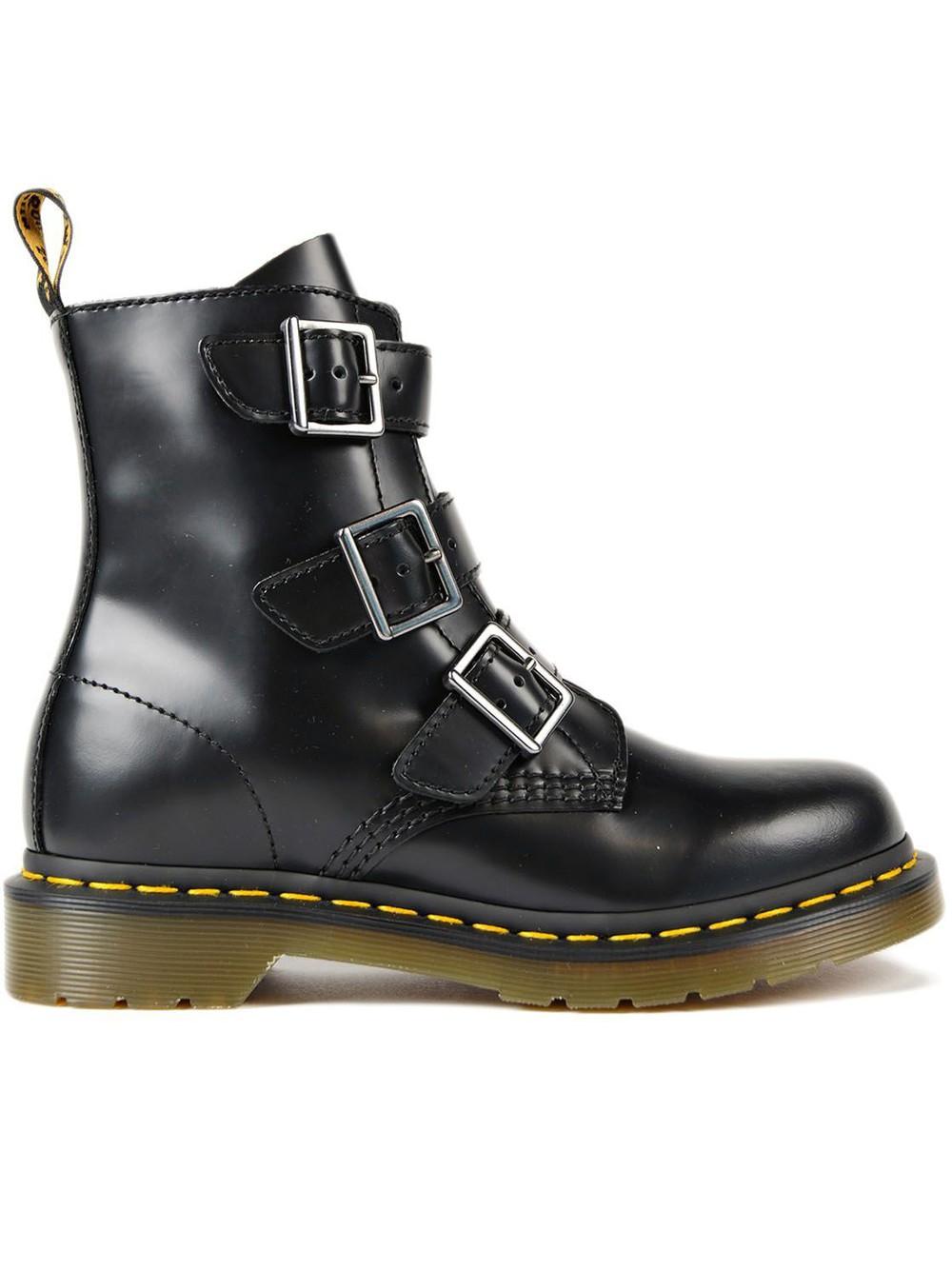 dr martens serena 8 eye boots in black wheretoget. Black Bedroom Furniture Sets. Home Design Ideas