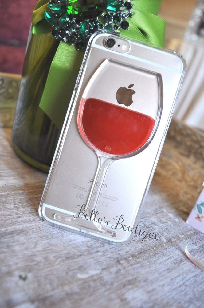 Us Seller 3d Wine Glass Liquid Flow Phone Case Iphone 6 5